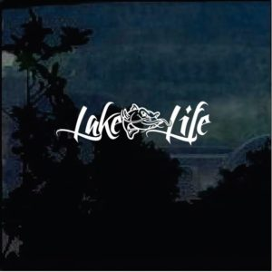 Lake Life Catfish window decal sticker
