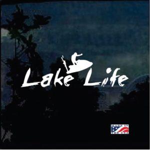 Lake Life Jet Ski Window Decal Sticker