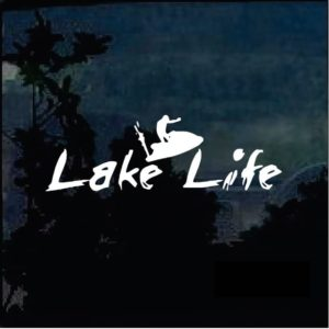 Lake Life Jet Ski Window Decal Sticker