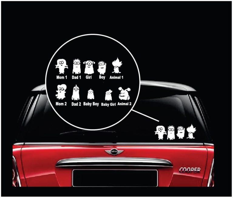 Minion Family Window Decal Sticker Custom Sticker Shop