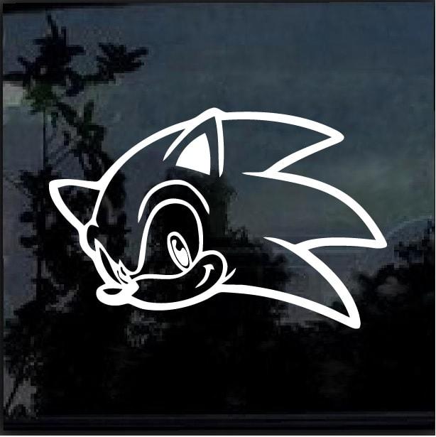 Sonic Hedgehog Ii Window Decal Sticker Custom Sticker Shop