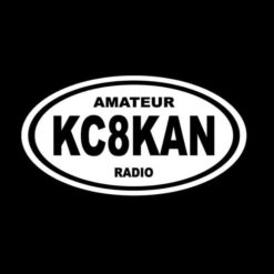 Ham Amateur Radio Call Sign Decal Sticker