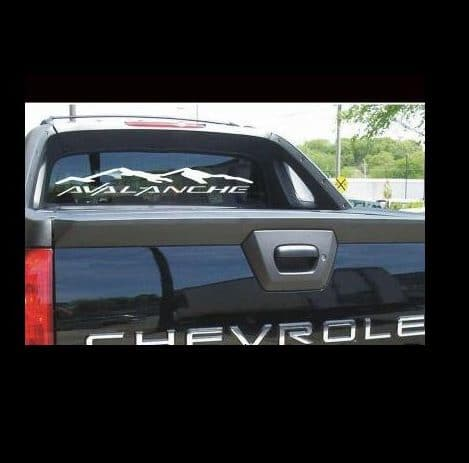 1dae022e8d Chevy Avalanche Rear Window Decal Sticker – Custom Sticker Shop
