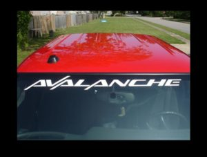 Windshield Decal Fits Chevy Avalanche