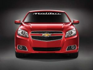 Windshield Decal Fits Chevy Malibu