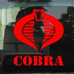 Cobra GI Joe Window Decal Sticker
