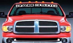 Vinyl Windshield Banner Decal Sticker Fits Dodge Ram 3500