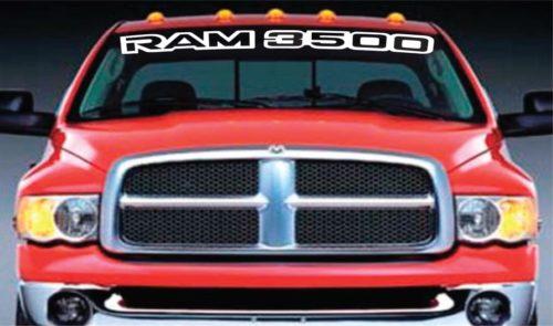 Vinyl Windshield Banner Decal Sticker Fits Dodge Ram 3500