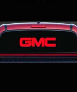 gmc rear window decal sticker