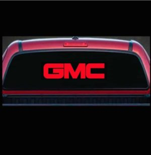 gmc rear window decal sticker