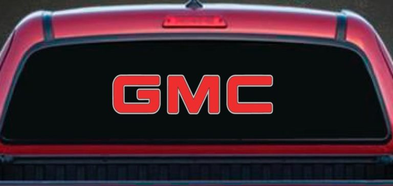 Rear Window Decal Fits GMC Trucks Vinyl Decal Stickers - Truck window decals