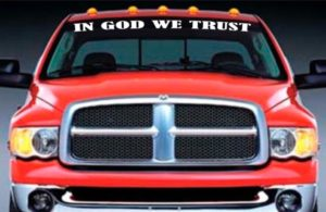 In God We Trust Windshield Banner Decal Sticker