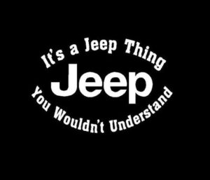 Its a Jeep Thing Decal sticker a2