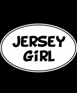 Jersey Girl Oval decal sticker