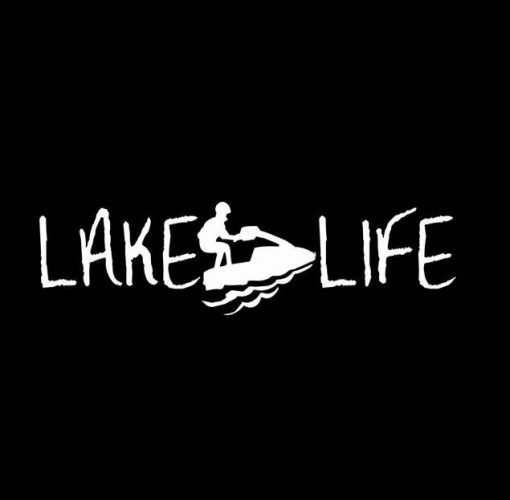 Lake Life Jet Ski Decal Sticker ii