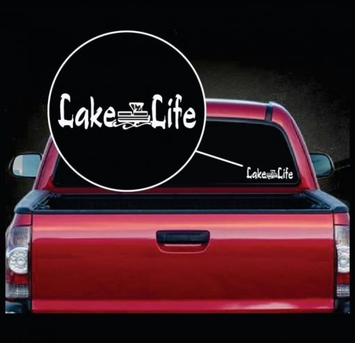 lake life pontoon boat window decal sticker
