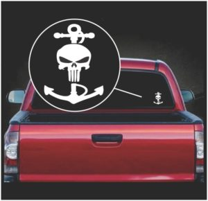 navy anchor punisher window decal sticker