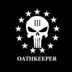 Punisher Skull 3 percenter Oathkeeper Truck Decal Sticker