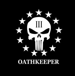 Punisher Skull 3 percenter Oathkeeper Decal