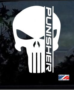 punsiher skull decal sticker a2
