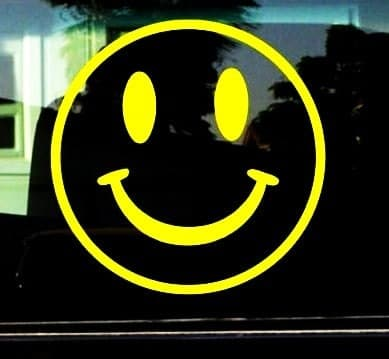 Smiley Face Decal Sticker