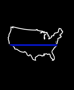 Thin Blue Line Police Lives Matter Decal a2
