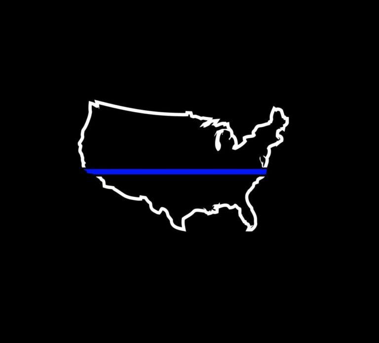 Buy A Thin Blue Line Police Sticker 57
