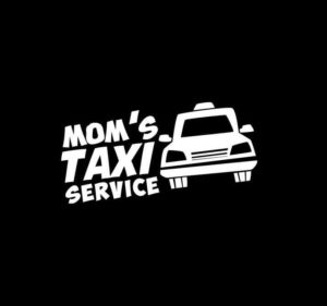Moms Taxi Service Vinyl Decal Stickers