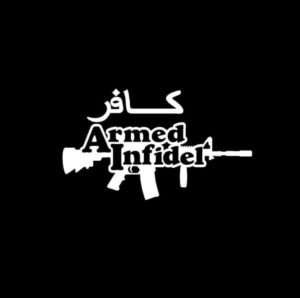 Armed Infidel Vinyl Decal Stickers a2