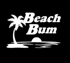 Beach Bum Vinyl Decal Sticker