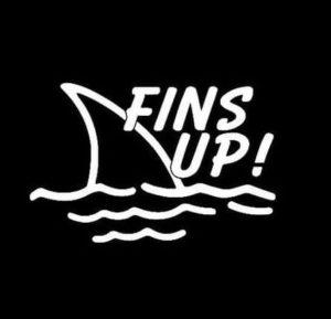 Fins Up Jimmy Buffet Vinyl Decal Sticker