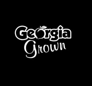 Georgia Grown Peach Vinyl Decal Stickers