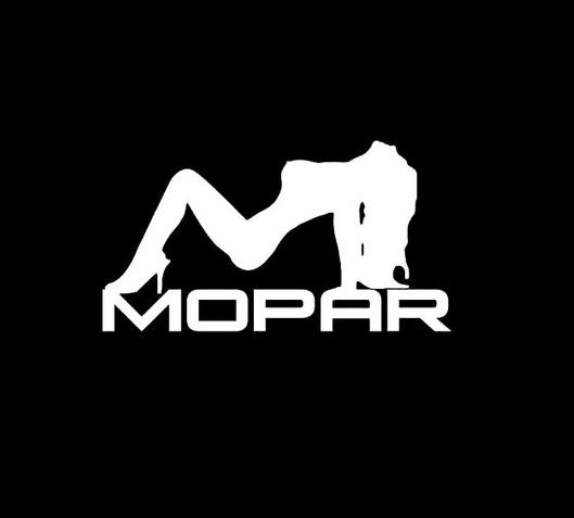 Mopar sexy girl logo vinyl decal stickers