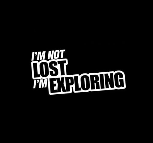 Not lost Exploring Jeep Vinyl Decal Stickers