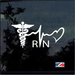 Nurse Heartbeat Heart Decal Sticker