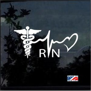 Nurse Heartbeat Heart Decal Sticker