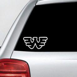 Waylon Jennings Logo Vinyl Decal Sticker