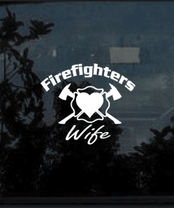 firefighters wife decal sticker