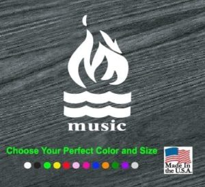 hot water music band decal sticker