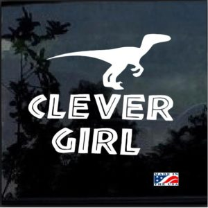 jurassic park clever girl window decal sticker