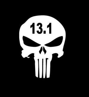 Punisher Skull 13.1 marathon Vinyl Decal Stickers