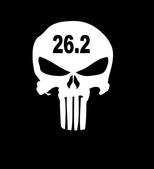 Punisher Skull 26.2 marathon Vinyl Decal Stickers
