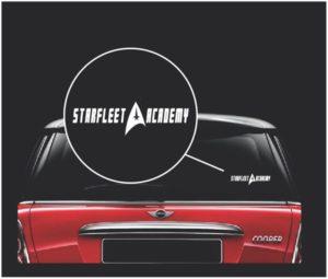 star trek starfleet star fleet academy decal sticker