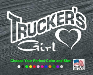truckers girl decal sticker