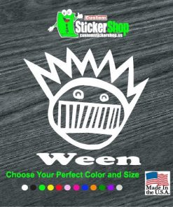 ween band decal sticker
