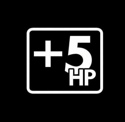Plus 5 hp +5hp Vinyl Decal Sticker