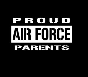 Proud Air Force Parents Decal Sticker a2