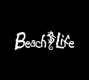 Beach Life Seahorse Vinyl Decal Sticker