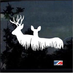 Buck and Doe Deer decal sticker