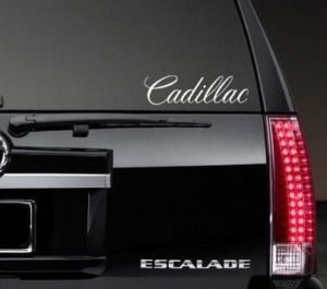 Small Window Vinyl Decal Stickers Fits Cadillac